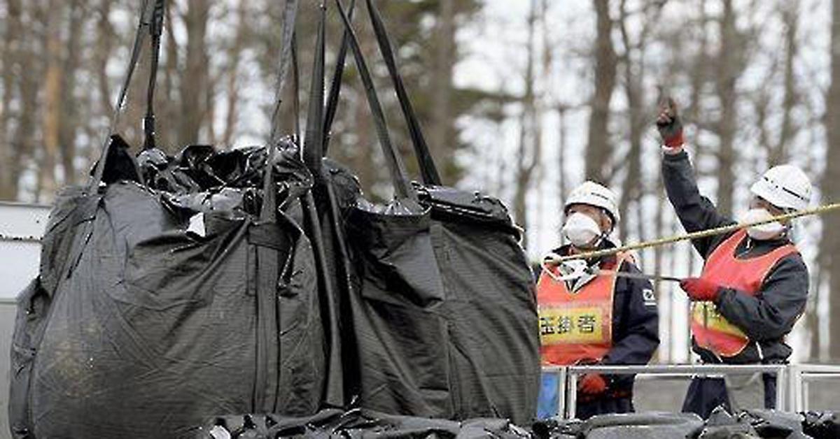 후쿠시마 원전사고로 오염된 흙일본 후쿠시마현에 임시로 보관된 방사성 물질 오염토. [연합뉴스]