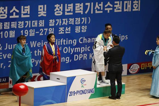 지난 19일부터 27일까지 북한 평양 청춘가 역도전용경기장에서 2019 아시아 유소년·주니어 역도선수권대회가 열렸다. [사진공동취재단]