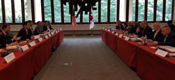 이달 23~24일 미국 하와이에서 제11차 방위비 분담금 협정의 2차 협상이 진행됐다. [외교부 제공]
