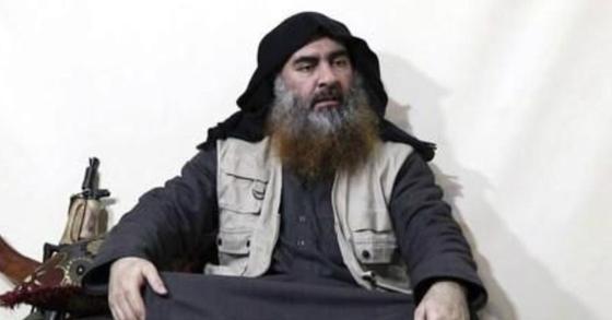 수니파 극단주의 무장조직 '이슬람국가'(IS)의 공식 미디어 알푸르칸이 공개한 영상에서 지난 4월 30일 캡처한 IS 수괴 아부 바크르 알바그다디의 모습. [AFP=연합뉴스]