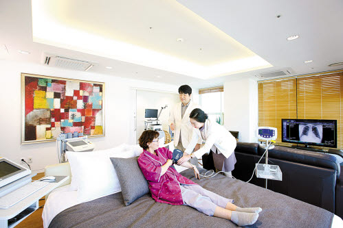 강북삼성병원은 스마트 검진 프로세스로 다른 건강검진센터와 차별화하고 있다.