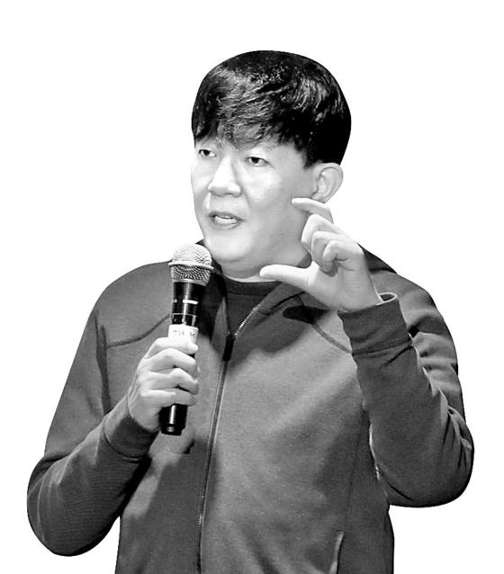 28일 여객운송법 위반혐의로 기소된 타다의 모회사 쏘카 이재웅 대표의 모습. [연합뉴스]