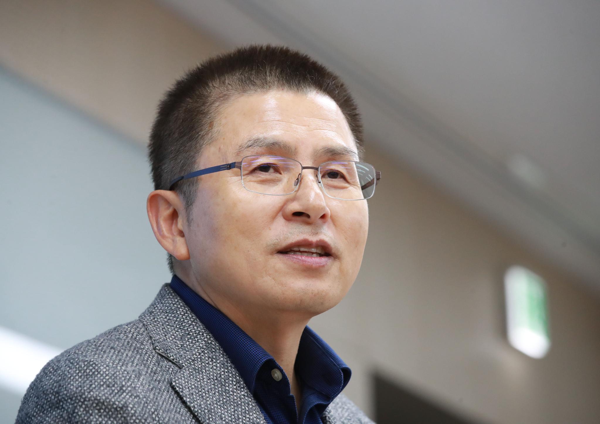 황교안 자유한국당 대표가 30일 오후 서울 건국대학교 상허연구관에서 '대한민국 국정대전환! 2030 G5를 넘어 2050 G2로'란 주제로 특강하고 있다. [연합뉴스]