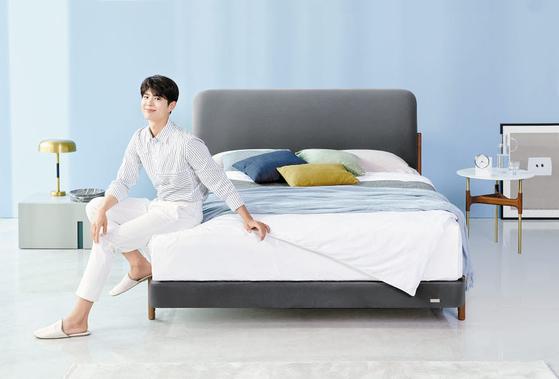 에이스침대는 질리지 않고 세련된 디자인의 프레임을 선보이고 있다. 세계 특허 '하이브리드 Z 스프링'을 적용해 침대의 흔들림·소음·쏠림 등을 최소화한 매트리스도 준비했다. 사진은 제2의 박보검 침대로 불리는 '오팔로(OPALO)'. [사진 에이스침대]