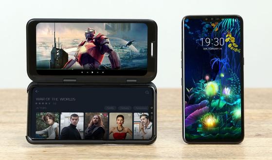 올해 LG전자의 주력 스마트폰인 'V50'. [사진 LG전자]