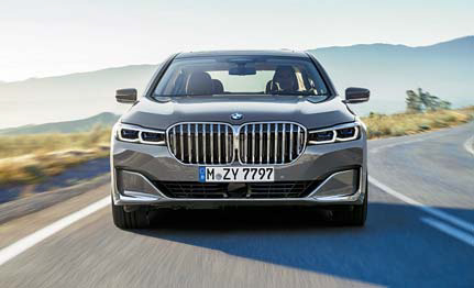 ▲ 페이스리프트가 이뤄진 최상급 세단 BMW 7시리즈.