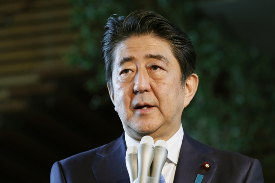 아베 신조 일본 총리. [교도=연합뉴스]