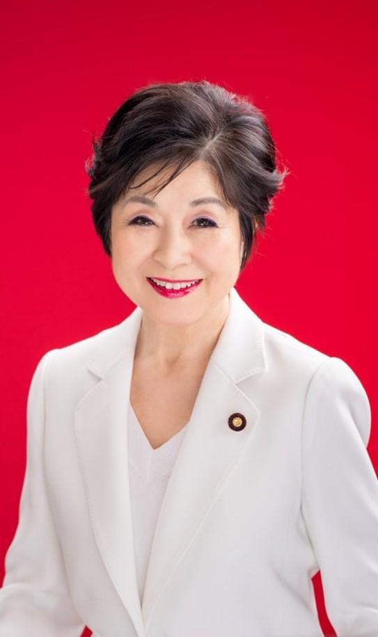 산토 아키코 일본 참의원 의장.[산토 의원 트위터 캡처]