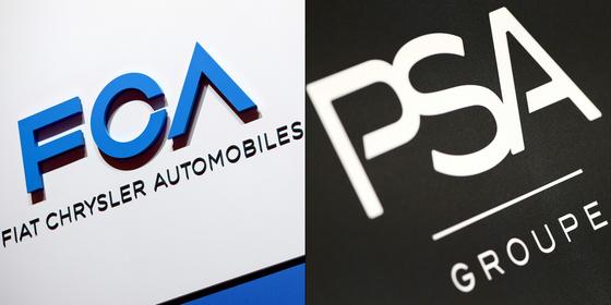 이탈리아-미국계 완성차 업체인 FCA가 프랑스 PSA와의 합병을 추진하면서 세계 자동차 산업에 지각변동이 시작됐다. 두 회사가 합병하면 세계 4위 규모의 완성차 업체가 된다. [AFP=연합뉴스]