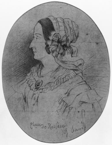 마리 드 로지에르. 조르주 상드의 데생. 1843년경. Musée de la Vie romantique 소장.