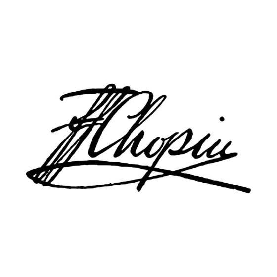 쇼팽의 사인. [사진 Wikimedia Commons (Public Domain)]