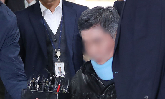 구속영장심사에 출석한 조국 전 법무부 장관의 동생[연합뉴스]