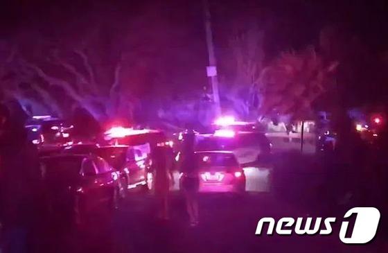 미 캘리포니아 오린다카운티 핼로윈 파티 총격사건 현장. [현지언론 캡처=뉴스1]