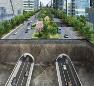 서울 강변북로, 부산 사상~해운대 등에 추진하는 대심도 지하도로. 지하는 자동차, 지상은 BRT(간선급행버스체계) 로 나눌 계획이다.