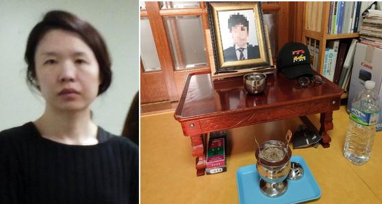 고유정(왼쪽)과 고유정에 의해 살해된 전남편의 초상화. [중앙포토]