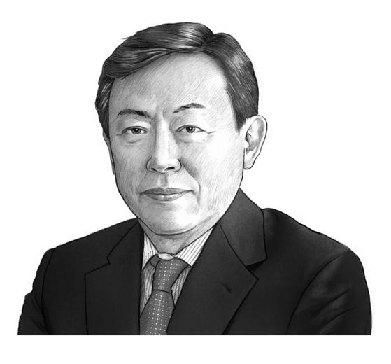 신동빈 롯데그룹 회장. 일러스트=박용석 기자