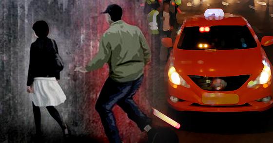 20대 여성을 폭행한 택시기사가 검찰에 넘겨졌다. [중앙포토·연합뉴스]