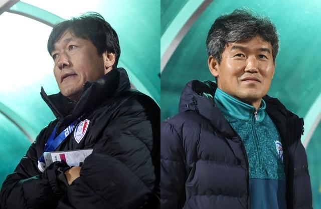 이임생 수원 삼성 감독과 김승희 대전 코레일 감독. 사진=대한축구협회