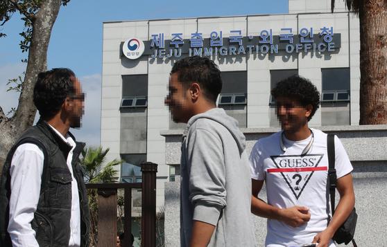 지난해 제주예멘 난민신청자 대부분은 인도적체류허가를 받았다. [뉴스1]