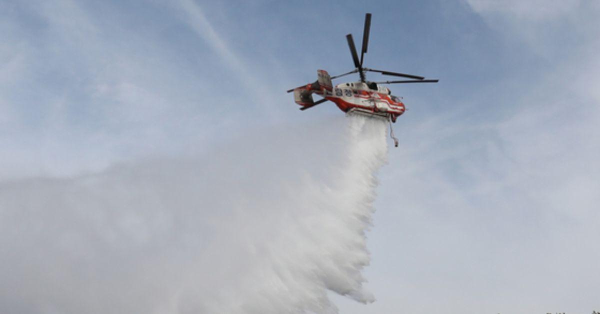 사진은 산불 진화 작업 중인 산림 소방헬기. [뉴스1]
