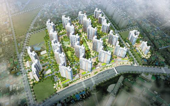 2025년 개통 예정인 광주도시철도 2호선의 수혜효과가 기대되는 무등산자이&어울림 조감도.