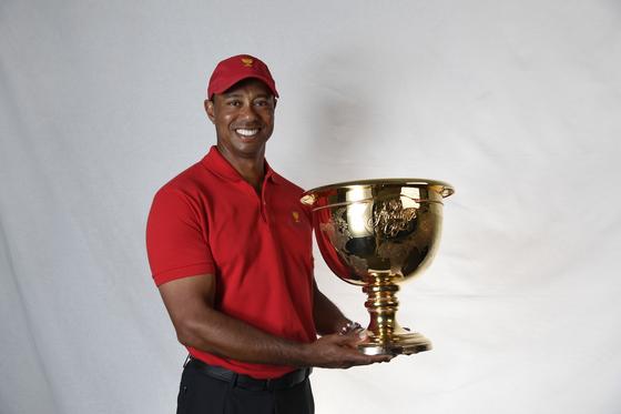 올해 프레지던츠컵에 미국 팀 단장 겸 선수로 나설 타이거 우즈. [사진 PGA 투어]