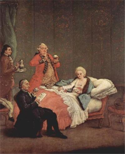 아침에 마시는 초콜릿, 에트로 팔카 작품. [사진 Wikimedia Commons]