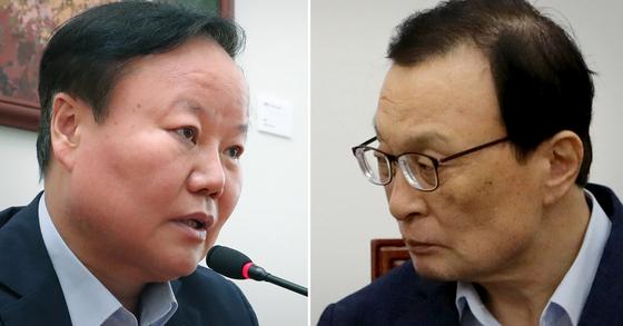 김재원 자유한국당 의원과 이해찬 더불어민주당 대표. [연합뉴스·뉴스1]