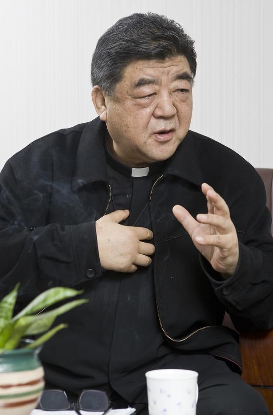 2008년 박홍 신부. [중앙포토]