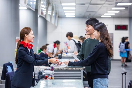 서울역 도심공항터미널 이용 모습