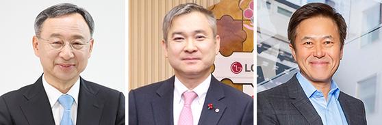 KT 황창규 회장, LGU+ 하현회 부회장, SK텔레콤 박정호 사장(왼쪽부터).