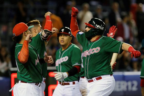 프리미어12에 출전중인 멕시코 야구 대표팀. [EPA=연합뉴스]
