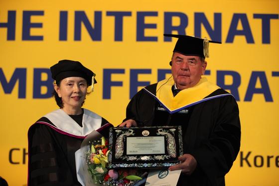 용인대, 국제삼보연맹 회장에 명예박사