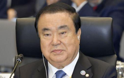 문희상 국회의장이 4일 오전 도쿄에서 열린 주요 20개국(G20) 국회의장 회의 개회식에 참석해 있다. [연합뉴스]