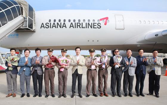 A350 9호기 도입한 아시아나항공. [사진 아시아나항공]