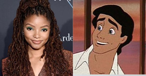 Charlie Bailey (left) starred in the live-action film with Disney Little Mermaid Ariel and Prince Eric in the anime. [트위터, 영화사]