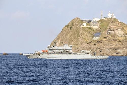 독도 해역 수색하는 해군 광양함. [해군 제공=연합뉴스]