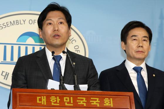 무소속 손금주 의원과 이용호 의원(오른쪽) [뉴스1]