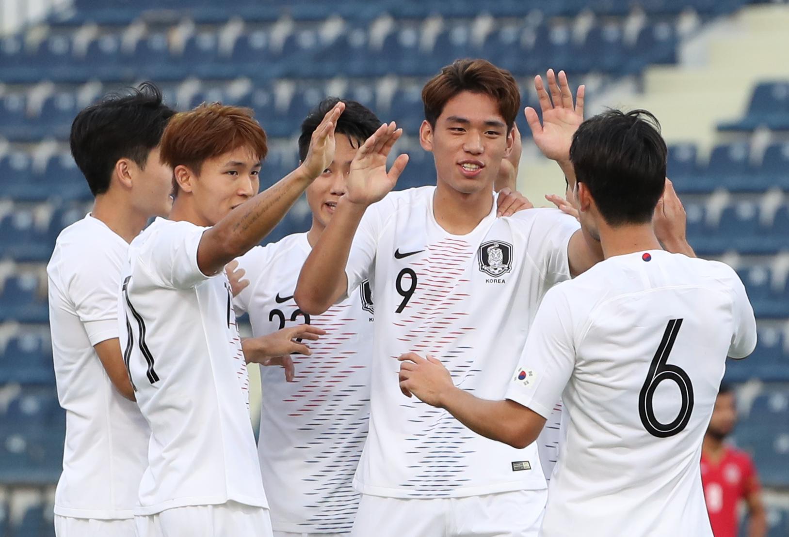 오세훈 2골 올림픽축구대표팀, 바레인 3-0 완파