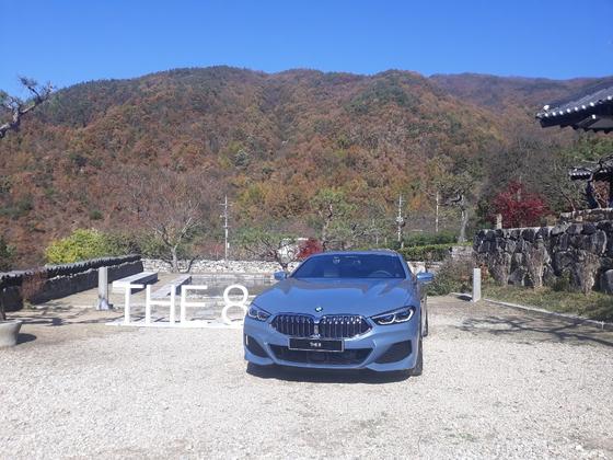 BMW 840i Coupe. Journalist Kim Young-ooo