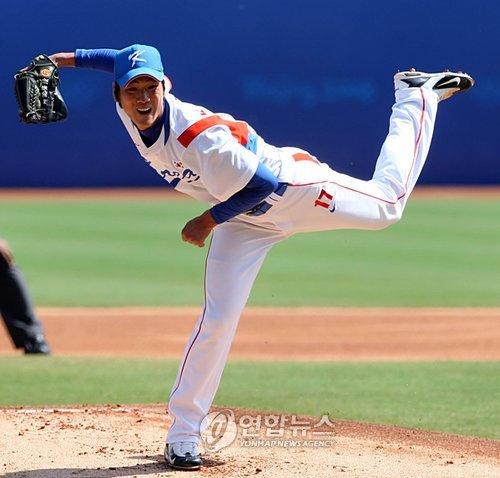 2008 베이징 올림픽에서 금메달을 따낸 김광현. [연합뉴스]