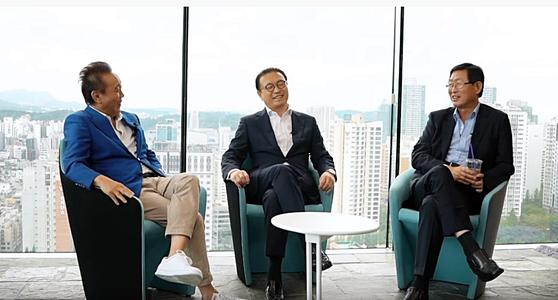 왼쪽부터 권대욱 휴넷 회장, 이강호 PMG 회장, 조환익 전 한전 사장. [사장이 미안해 유튜브 캡처]