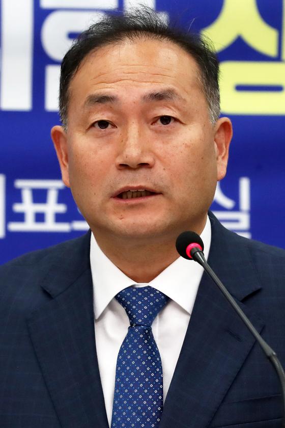 김원이 서울시 정무부시장. 내년 4월 총선 출마를 위해 이달 말 정무부시장직에서 사퇴한다. [뉴스1]