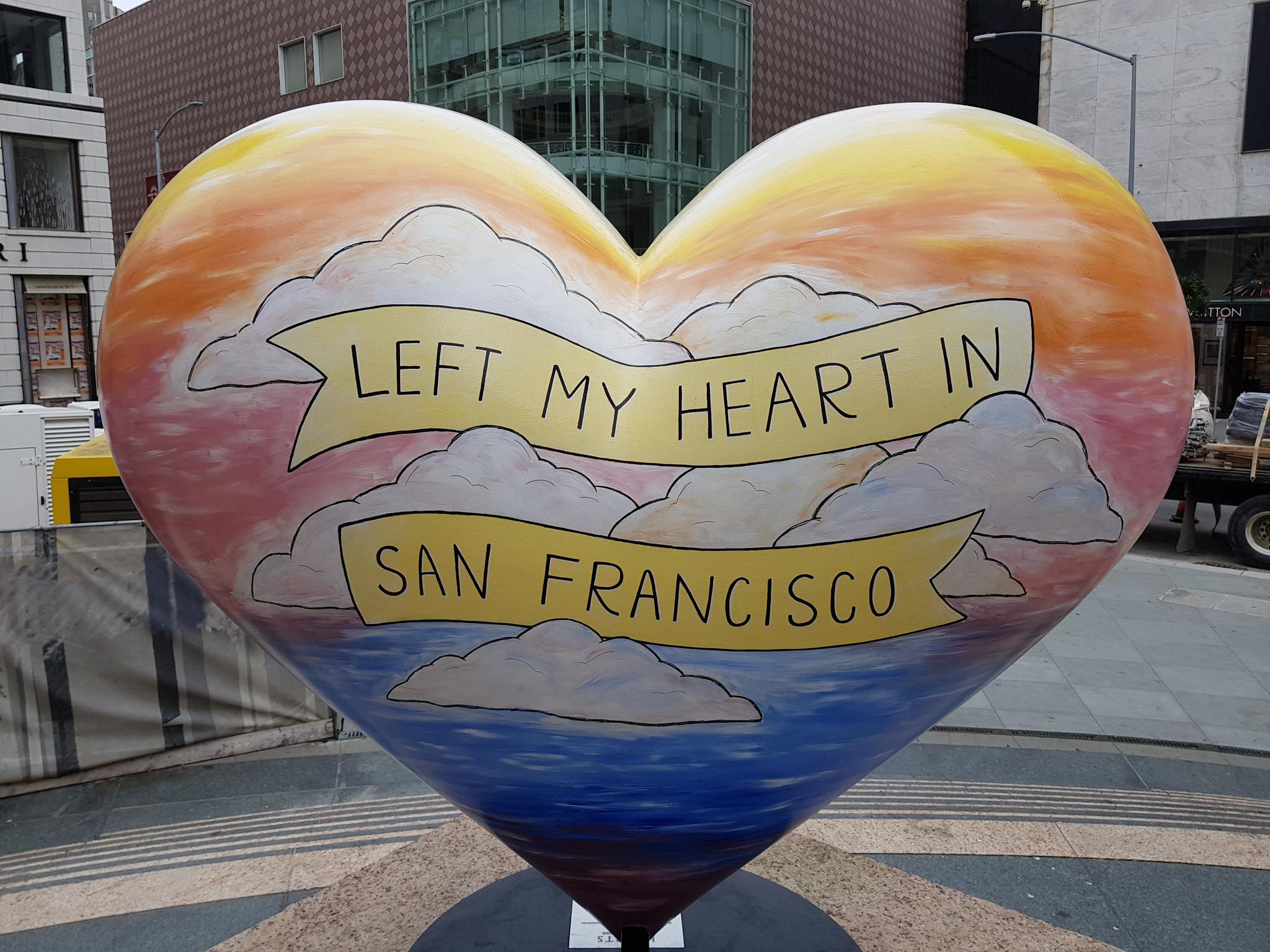 미국 샌프란시스코의 상징인 하트 조형물. 토니 베넷의 히트곡 'I left my heart in San Francisco' 를 콘셉트로 한다. 이소아 기자