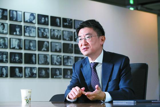 총선 불출마를 선언한 김세연 한국당 의원이 18일 중앙일보와 인터뷰하고 있다. 우상조 기자