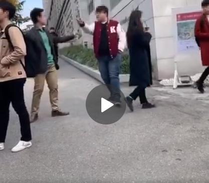 13일 고대에서 한국 학생과 중국 유학생 사이에 말다툼이 벌어졌다. [웨이보 캡쳐]