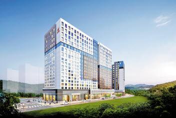 서울 왕십리뉴타운(33만㎡) 2배 규모의 덕은지구 노른자에 선보이는 힐스테이트 에코 덕은 투시도.