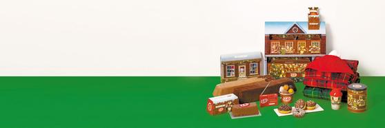 던킨도너츠는 '킷캣'과 진행하는 '윈터 플레이' 캠페인을 통해 도넛 4종을 출시했다. 색다른 모양의 디저트와 다양한 프로모션 상품도 선보였다. [사진 던킨도너츠]