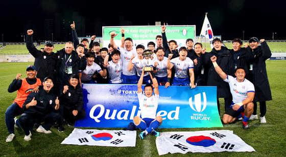 한국 남자 럭비가 사상 첫 올림픽 본선 진출을 이뤘다. [사진 대한럭비협회]