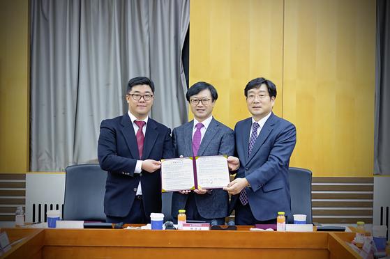 경희사이버대학교와 머니투데이방송, 한국증권인재개발원이 산학협동 협약을 체결 했다.